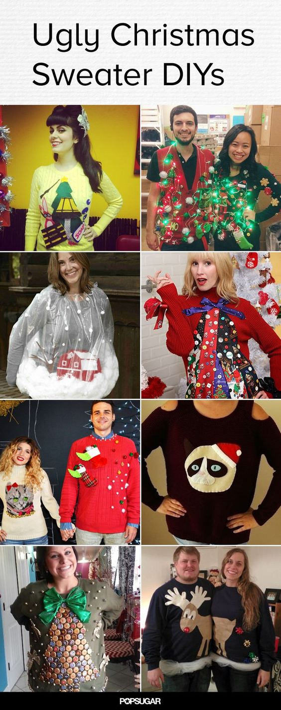 40 Cheap and Easy Ugly Christmas Sweater DIYs We, The o