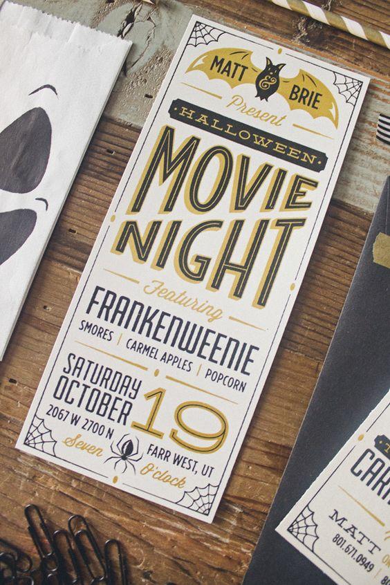 Movie nights, Movie night invitations and Movies on Pinterest