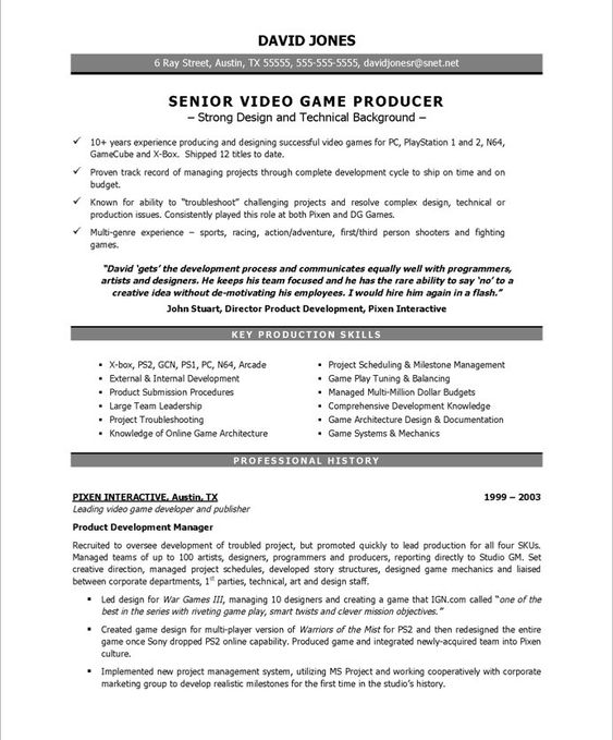 resume free resume samples and video games on pinterest