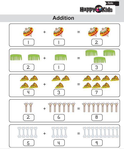 Kindergarten Maths Addition Preschool Wordzila