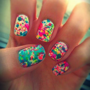 nails for color run: