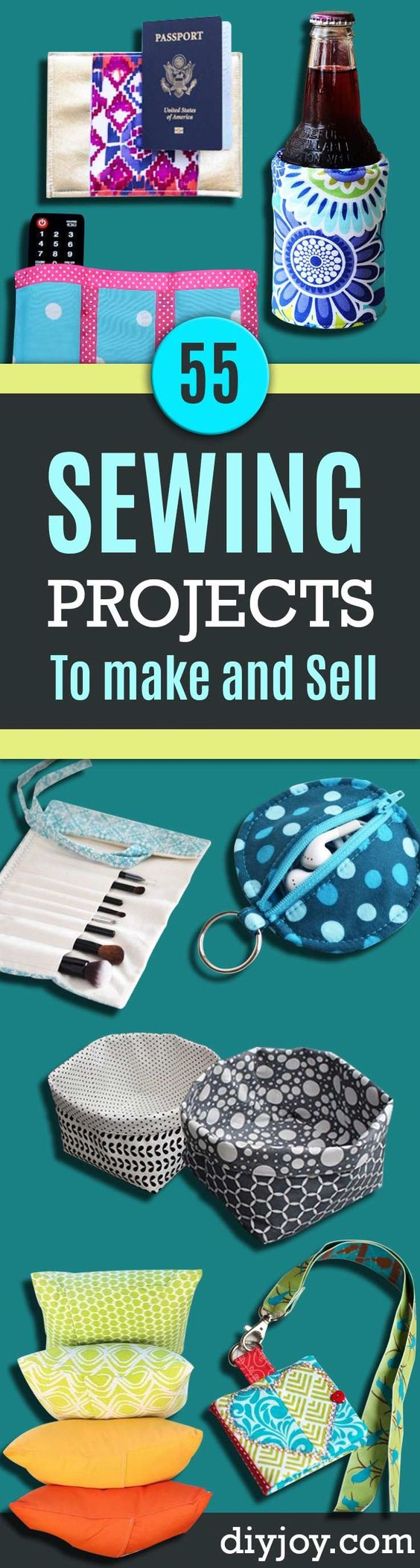 55 Sewing Projects to Make And Sell Patterns, Fabrics