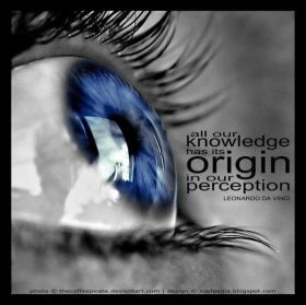 All our knowledge has its origin in our perception, L da Vinci