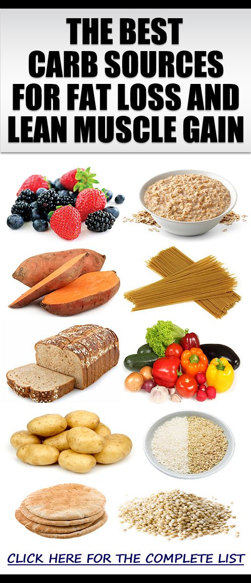 The Best Sources Of Healthy Carbs For Fat Loss & Lean