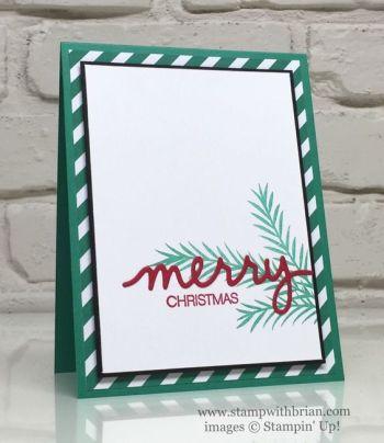Christmas Pines, Holly Jolly Greetings, Christmas Greetings Thinlits, Stampin' Up!, Brian King, CTS#194: