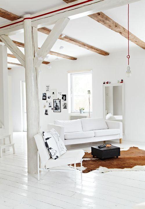 diseño de interiores: decorar con vigas: