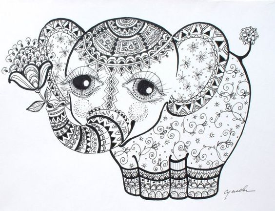 elephants paisley and cool tattoos on pinterest