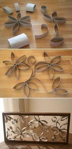 papel higienico ou papel toalha em quadro decorativo: