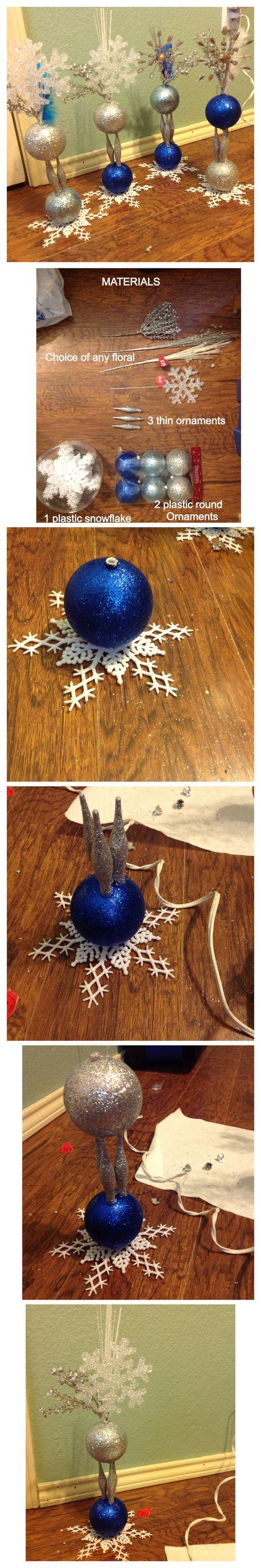 DIY cute winter wonderland centerpiece decoration Sweet