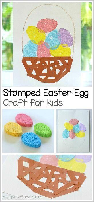 Stamped Easter Egg Craft for Kids to Make