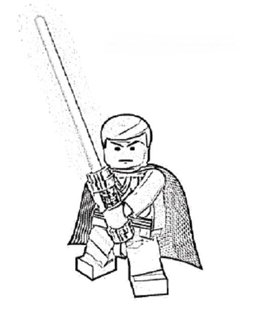 Lego Coloring Pages Star Wars To Print Superhero