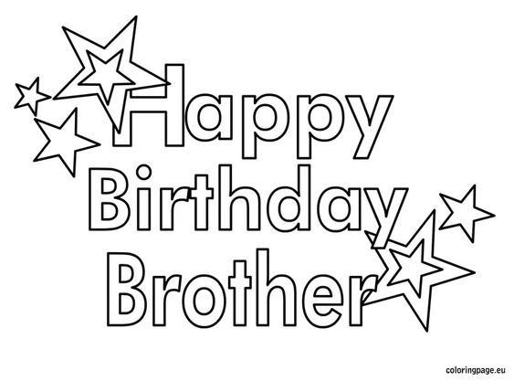 coloring pages related happy birthday brother viatolosa net
