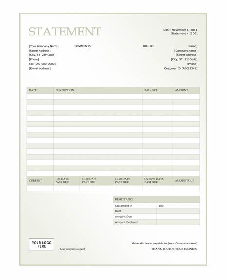 invoice statement template. profit and loss statement free, Invoice templates