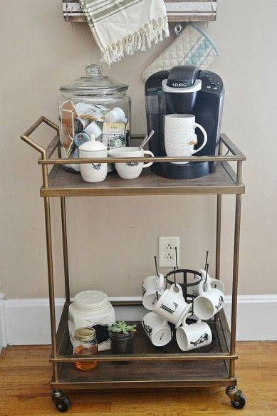 bar cart for coffee