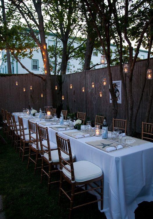 backyard dinner party celebrations Pinterest