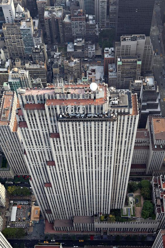 Aerial view of Top of the Rock