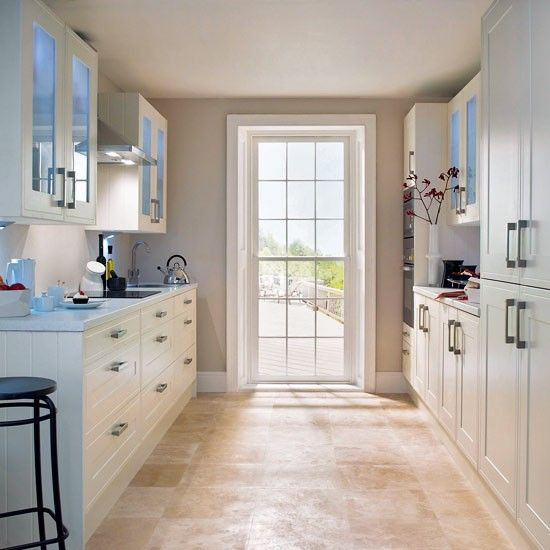 Galley Kitchens Glazed Walls And Wall Units On Pinterest