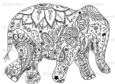 elephant coloring pages for adults aaldtk