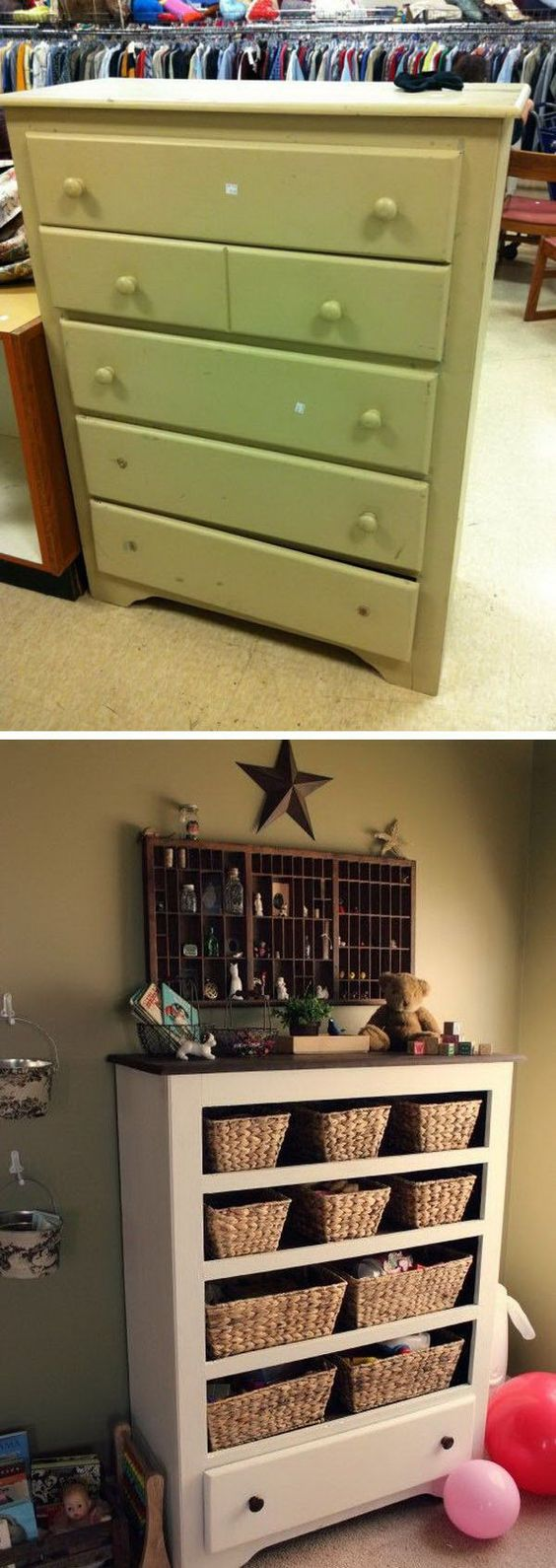 Turn a 9.50 Thrift Store Drawer into Funny Functional