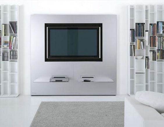 Modern Stylish Wall Unit Design For LCD TV Stand Ideas