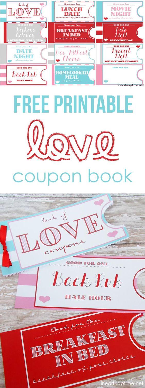 Printable Love Coupon Book Boyfriends, Printable coupons