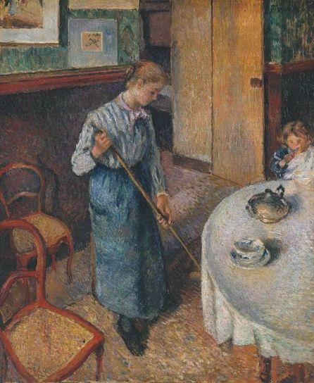 La bonne, par Camille Pissarro: