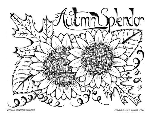 Fall Color Sheet. free autumn landscape coloring pages printable ...