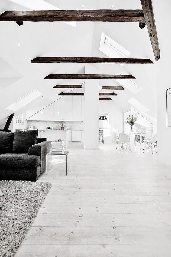 The Design Chaser: Pitched Roofing + Wooden Beams: