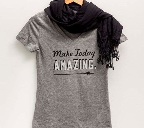 Cricut Glitter Vinyl T-Shirt - Make Today Amazing!
