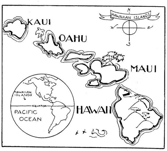 hawaii page usa and maps on pinterest