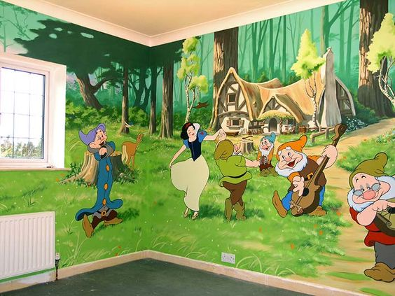 Disney Inspired Rooms Snow White and the Seven Dwarfs Wall Mural