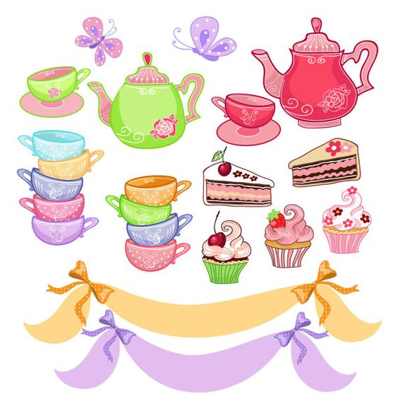 Tea Party Digital Clip Art Tea Party French By