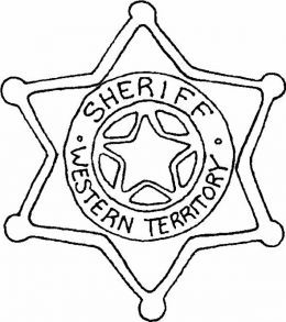 western cowboy sheriff badge and kids coloring pages on pinterest