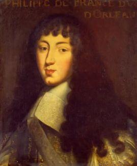 Philippe de France, Monsieur, duc d'Orléans, jeune homme