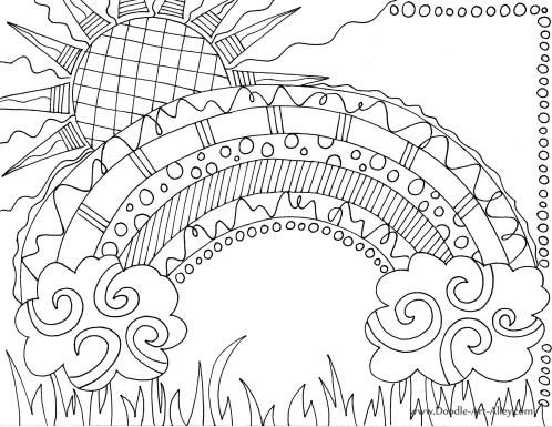 arco à ris pà ginas para colorir and coloraà à o on pinterest