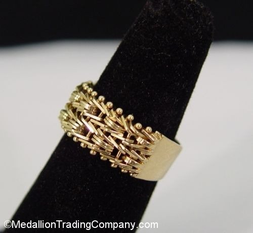 LAST ONE QVC 14k Imperial Gold 7mm Riccio Wheat Ring