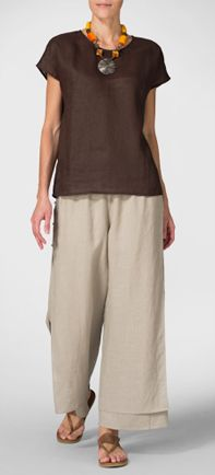Vivid Linen Easy Layers - check out this website for clothes for me: