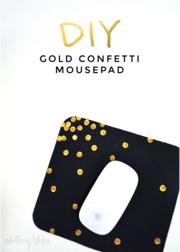 diy gold confetti mousepad. need to do it soon gold dots mouse pad: