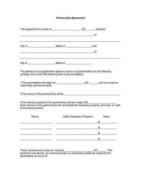 Simple Partnership Agreement Template simple general contract – Partnership Dissolution Agreement