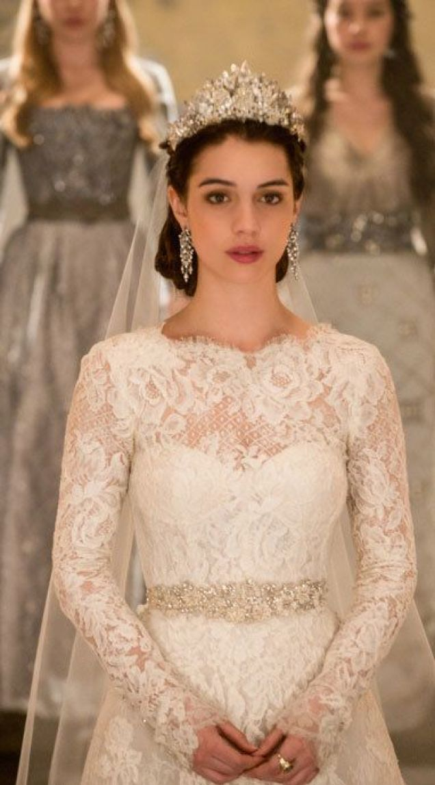 Beautiful lace wedding dress with sleeves. | Follow Mode-sty for stylish #modest clothing www.mode-sty.com #sleevesplease #nolayering: