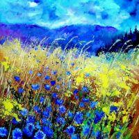 À une fleur de bleuet