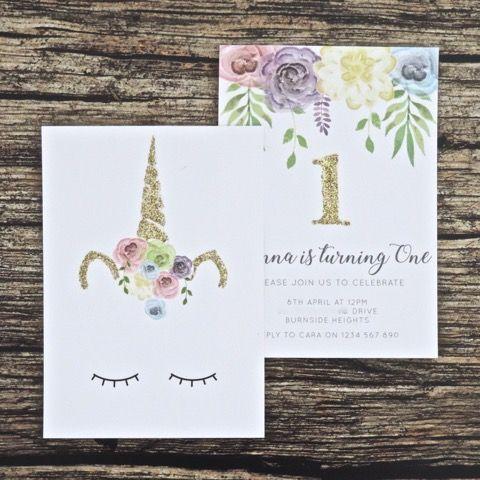 invitaciones unicornio