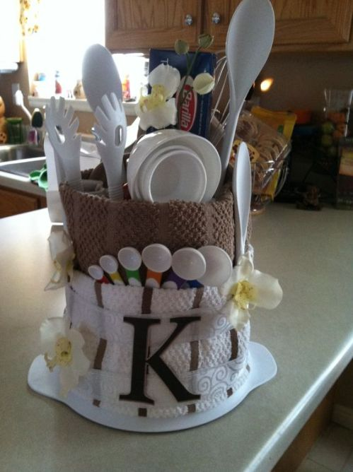 For a Bridal Shower- I see many more in my future so this would be a fun alternative gift idea: