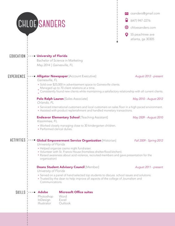 resume template available on etsy things to keep in mind