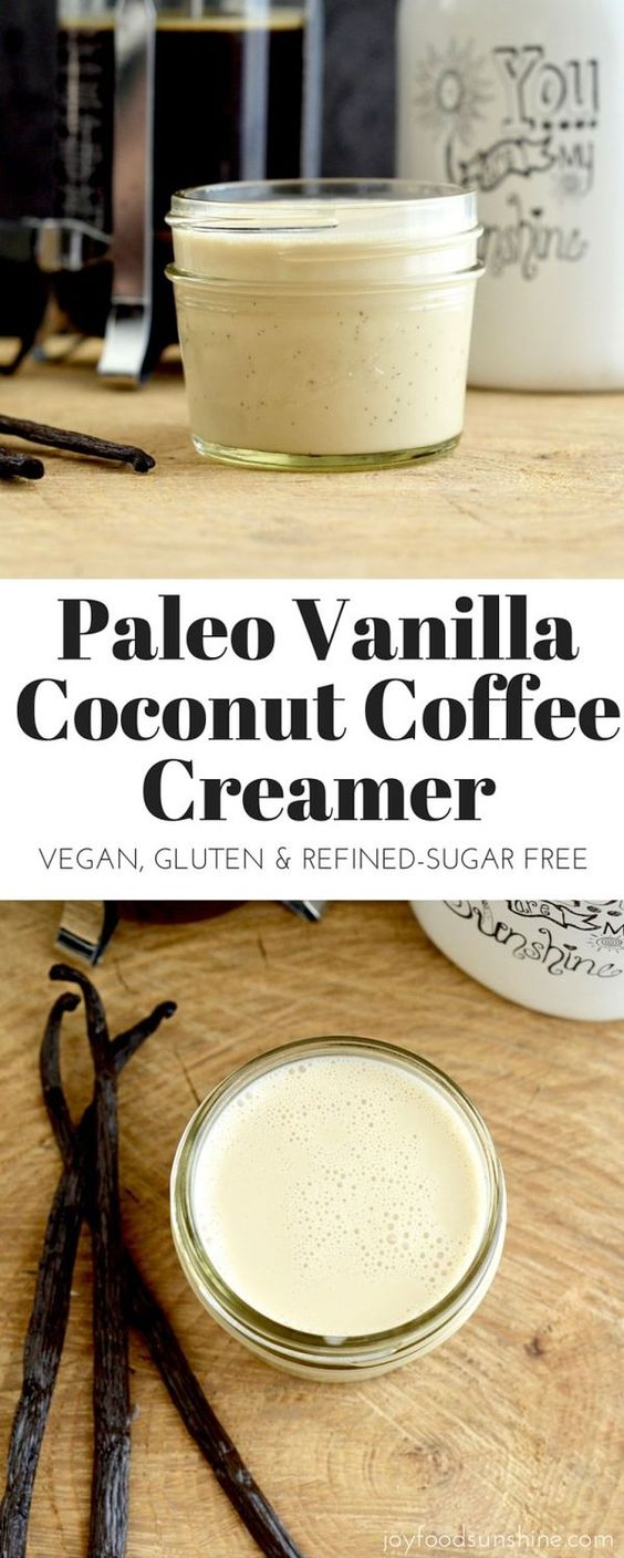 Paleo Vanilla Coconut Coffee Creamer Recipe Coffee