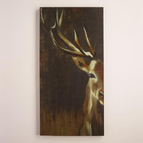 With its dramatic cropping and striking subject - the steady gaze of a majestic buck - this exclusive piece by Liz Jardine will transform your space with statement-making style.: