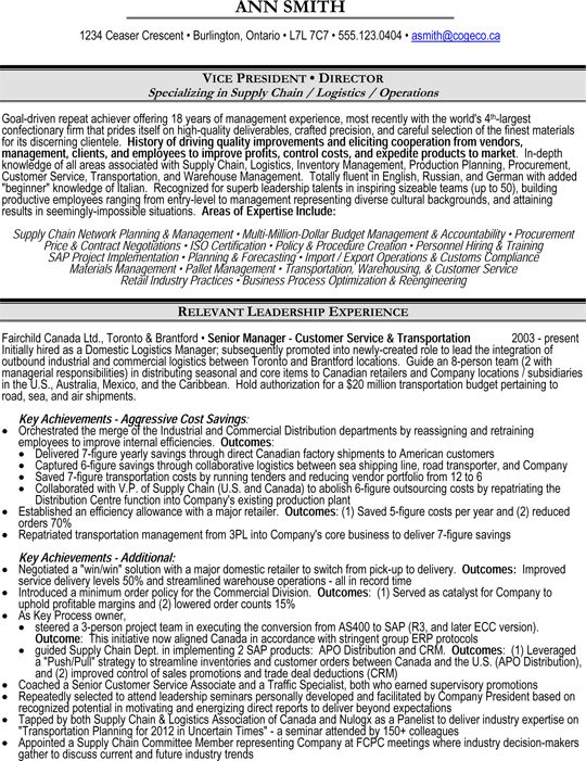 Supply Chain Management Resume logistics manager cv template example job description supply chain manager delivery of goods c Supply Chain Management Resume Sample Inspirenow