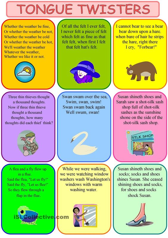 Tongue twisters, Worksheets and Google search on Pinterest
