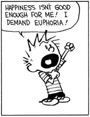 Calvin and Hobbes - I DEMAND EUPHORIA!: