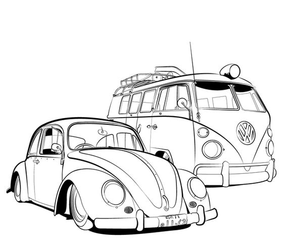 beetle coloring pages and vw beetles on pinterest